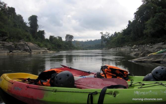 Journée Kayak pour rejoindre Ventiane