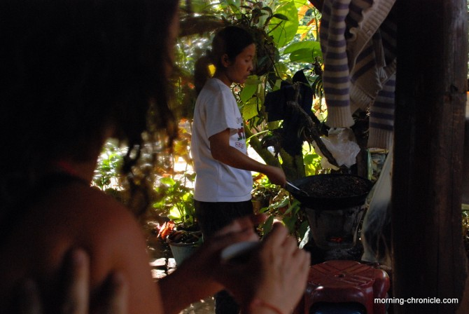 Dégustation du café Laos avec les producteurs Boloven