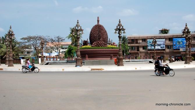 Durian rond point à Kampot