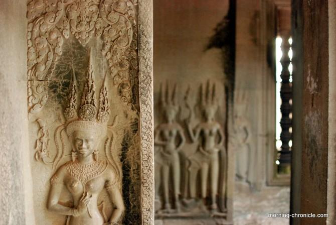 Angkor Vat, détail couloir