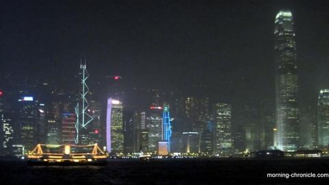Hong-Kong dans la brume