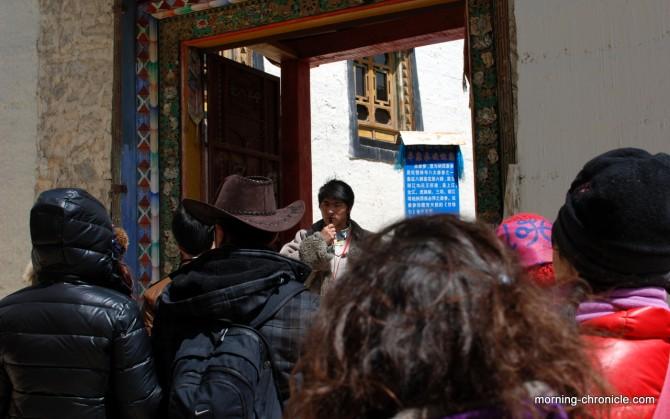 Dans un groupe organisé en chinois