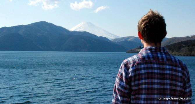 Béa devant le mont Fuji