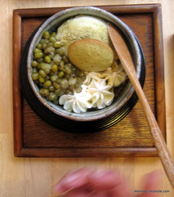 Un Parfait au thé vert et haricot