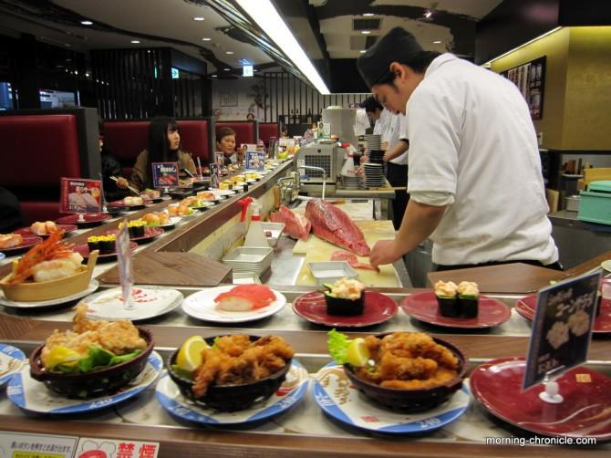 Sushi en live, un peu trop...