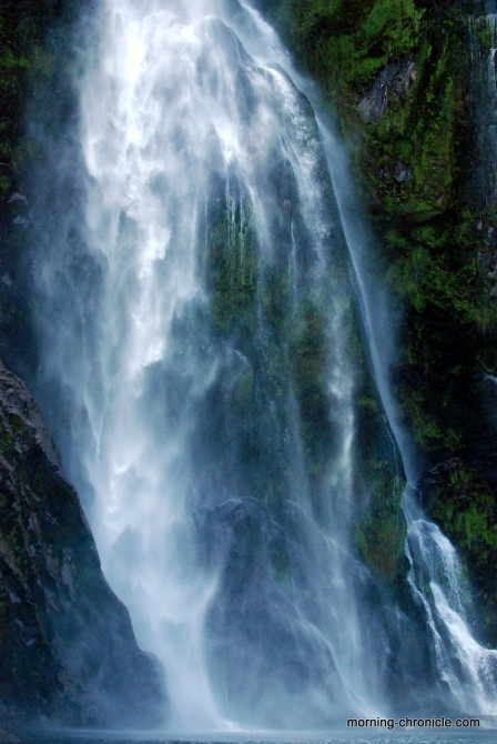 Milfjord sound  waterfall