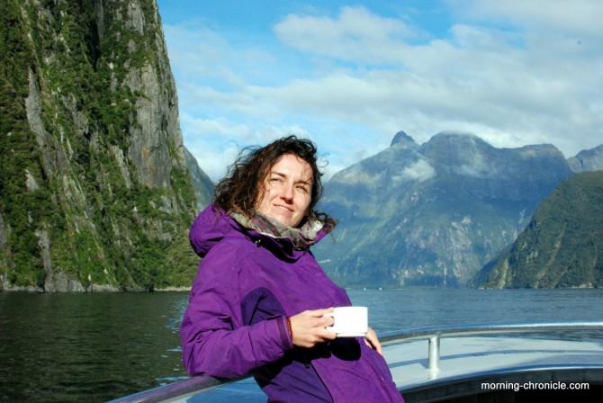 Instant café tranquille le chat à Milfjord sound