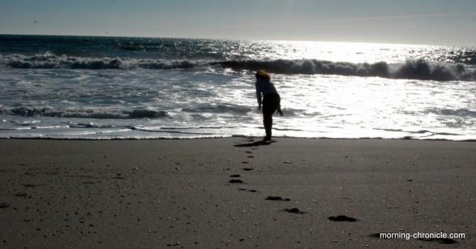 On joue avec es vagues...