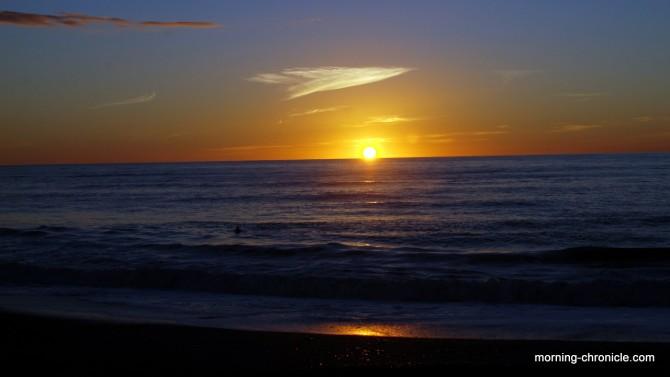 Okarito sunset