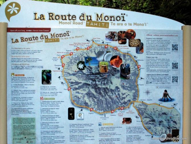 Plan route du Monoï