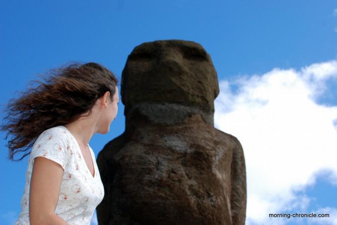 Moai dans le vent