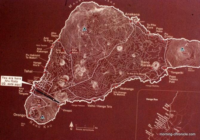 Carte de Rapa Nui