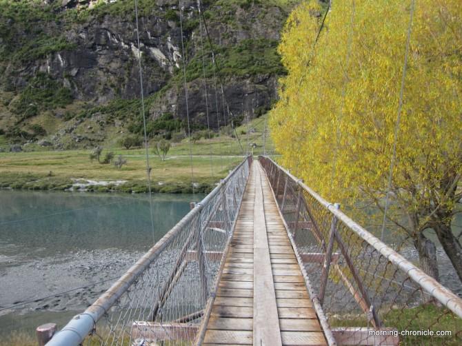 Pont suspendu Raspberry creek
