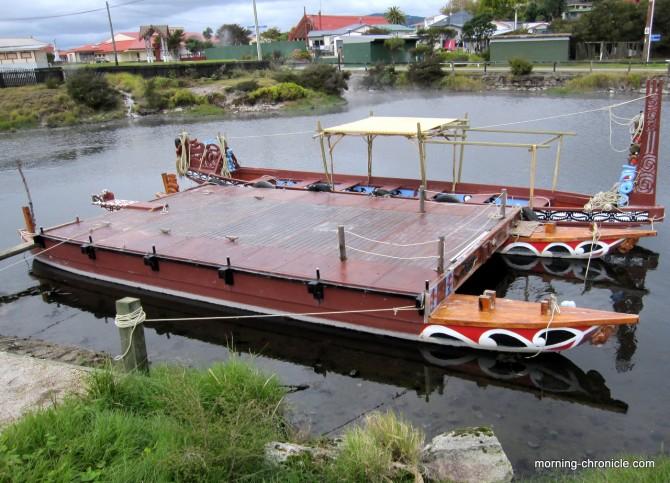Embarcation pour cérémonie Maori