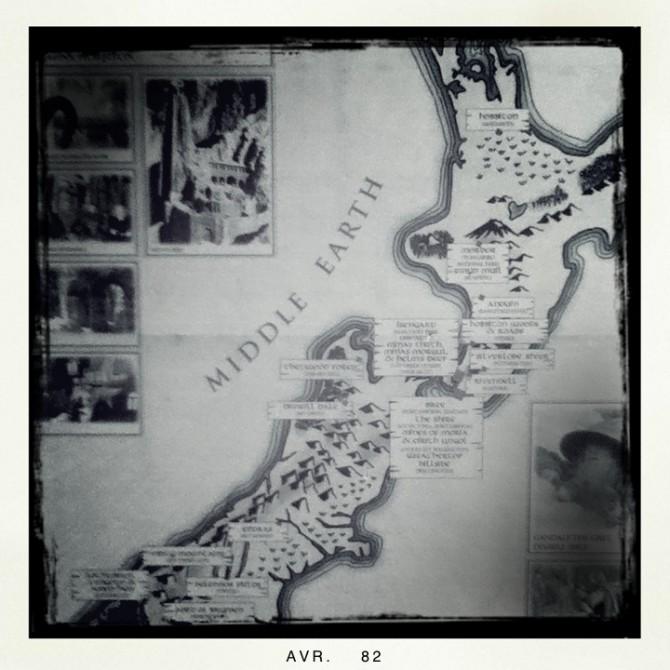 Carte touristique du seigneur des anneaux