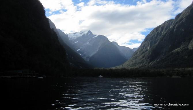 Milfjord sound en bateau