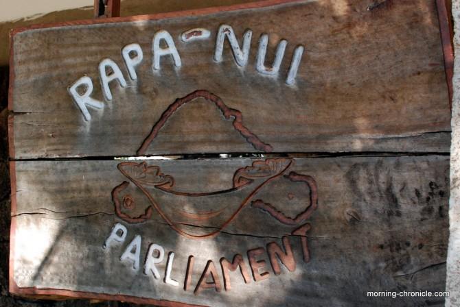 Le siège du parlement Rapa Nui (vs Chili)