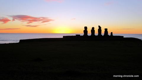 Balade au nord de l'île de Pâques