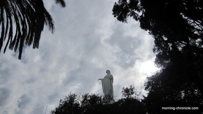 La vierge du parc Cristobal