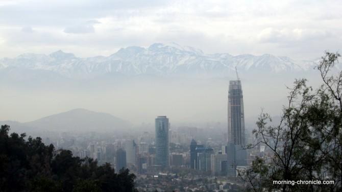 Au pied de la cordillère des Andes