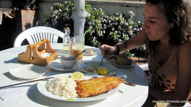 Empenadas et poisson frit