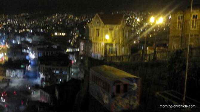 Valparaiso au dessus des docks