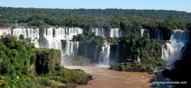Iguaçu vu du Brésil