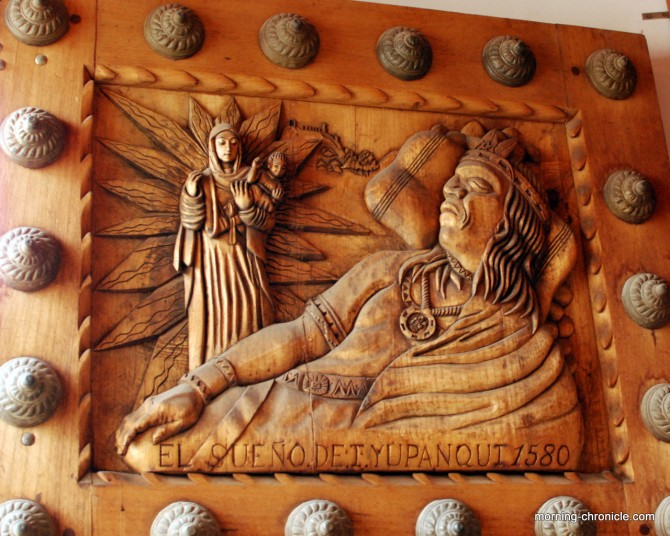 Détail Inca Porte d'église