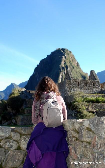 Bien arrivée au Machu Picchu