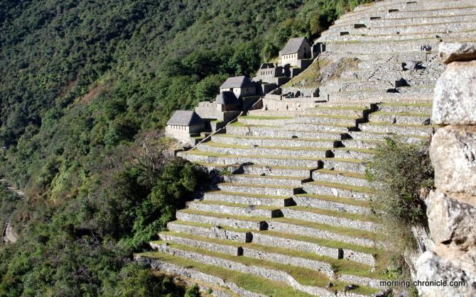 Terrasses et maisons incas