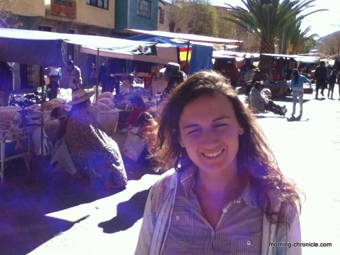Cholitas réunion au mercado