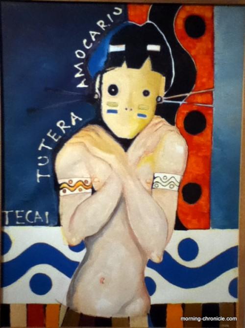 Affiche de l'exposition d'art amazonien