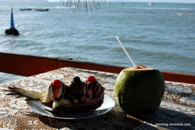 Ananas split et coco helado