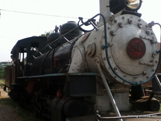 Première locomotive d'Amazonie