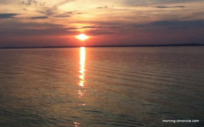 Premier coucher de soleil sur Amazone