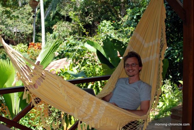 Traditionnelle sieste sur le hamac
