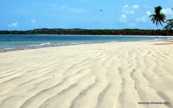 Plage de sable blanc à Boïpeba